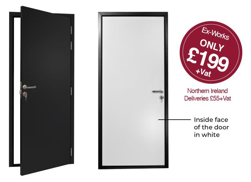 Black Door Flush Design