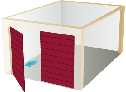 <h1>DuraTherm</h1><p>Insulated Side-Hinged Garage Doors</p>